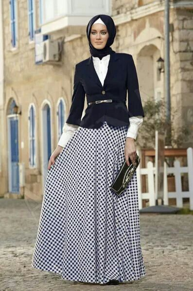 office wear, blazer, long skirt | Alvina