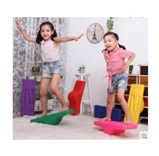 Balance Beam Gymnastic Exercise Seesaw Bench Plate Training Equipment Tools New #Unbranded