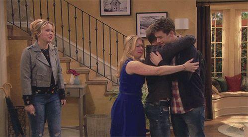Group hug!! | Melissa & Joey Gifs