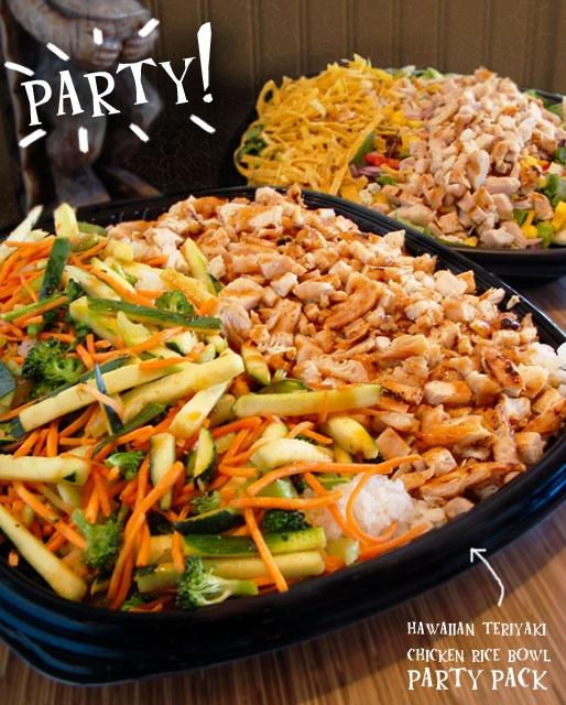 Rumbi Island Grill kalua pork, macaroni salad, asian slaw, and rice, (6-8 adults), $49Macaroni Salad