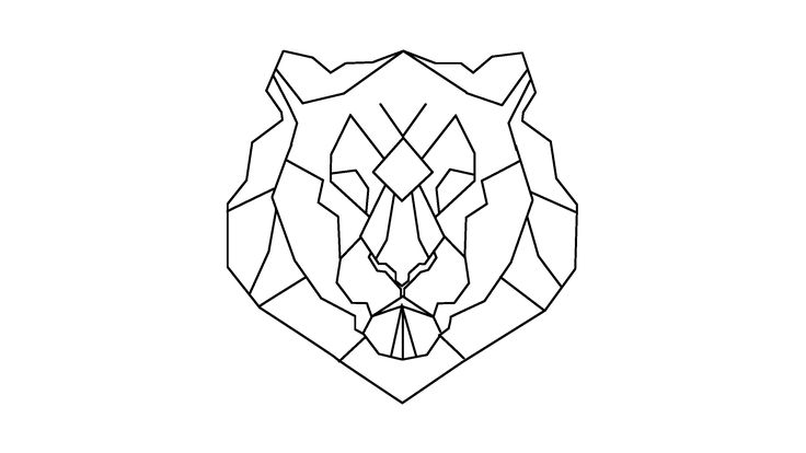 geometric geometrique lion head tete geometric animals pinterest lion. Black Bedroom Furniture Sets. Home Design Ideas