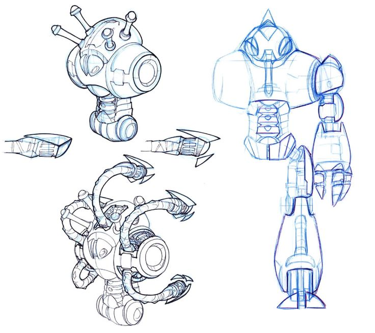 Robot Sketch from Jak 3