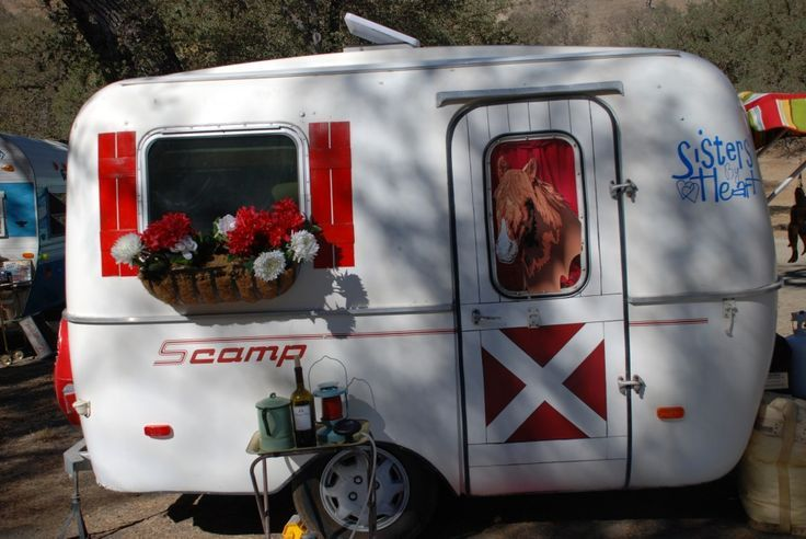 Vintage Scamp trailer - This is just like my Scamp, only fixed up very cute!  Love my Scamp!