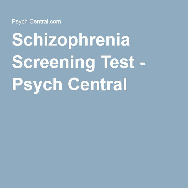 Schizophrenia Screening Test - Psych Central