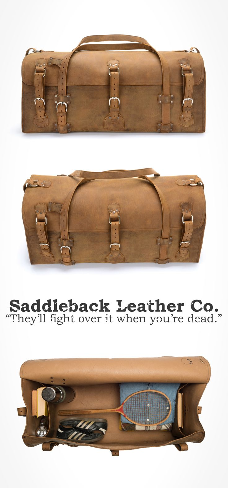 The Saddleback Leather Beast Duffel in Tobacco | 100 Year Warranty | $907.00