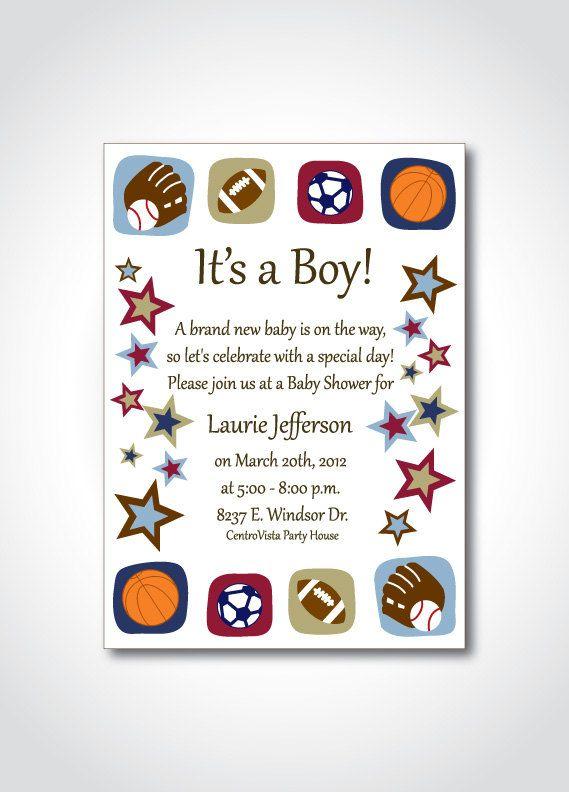 sports theme baby shower printable invitation diy birthday