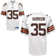 Reebok Cleveland Browns Jerome Harrison 35 White Authentic Jerseys Sale