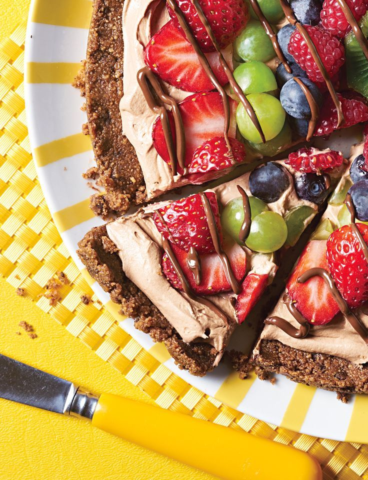 """Chocolate Fruit Pizza from @Jewel-Osco board """"Sweet-Tooth"""""""