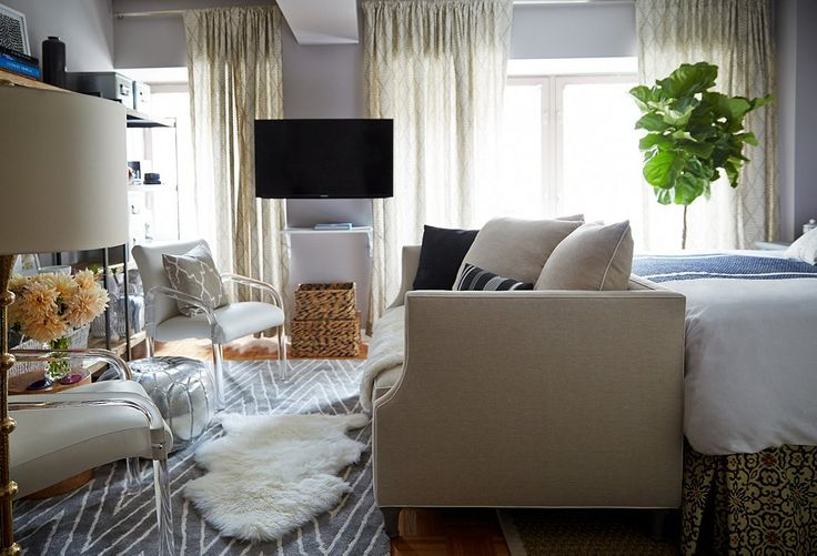Small Space Makeover: A 400-Square-Foot Apartment – One Kings Lane -- How to space out a small space