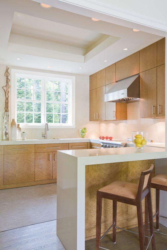 maple cabinets white backsplash kitchen contemporary with ... on Modern Kitchen Backsplash With Maple Cabinets  id=46949