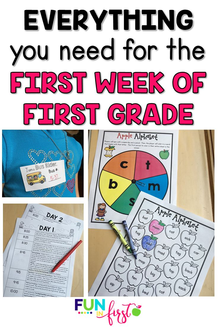 Are you a new 1st grade teacher or do you just need some fresh and new ideas for the first week of 1st grade? This First Week of First Grade includes everything you need to have a successful first week of first grade.   Welcome Letters Open House/Meet the Teacher Night Ideas Editable Lesson Plans Printables Attention Grabbers And much, much more! This is a MUST-HAVE for every 1st grade teacher.