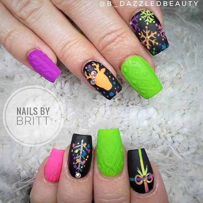 50 Popular Ideas Of Christmas Nails Designs To Try Christmas Nail Designs Trendy Nail Art Designs Christmas Nails