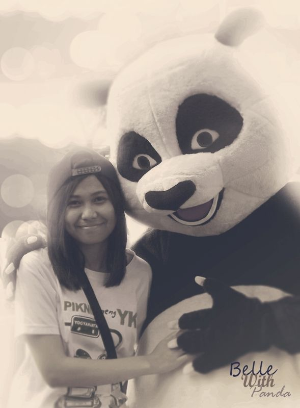 Aulani with Panda at car free day Ijen-Malang