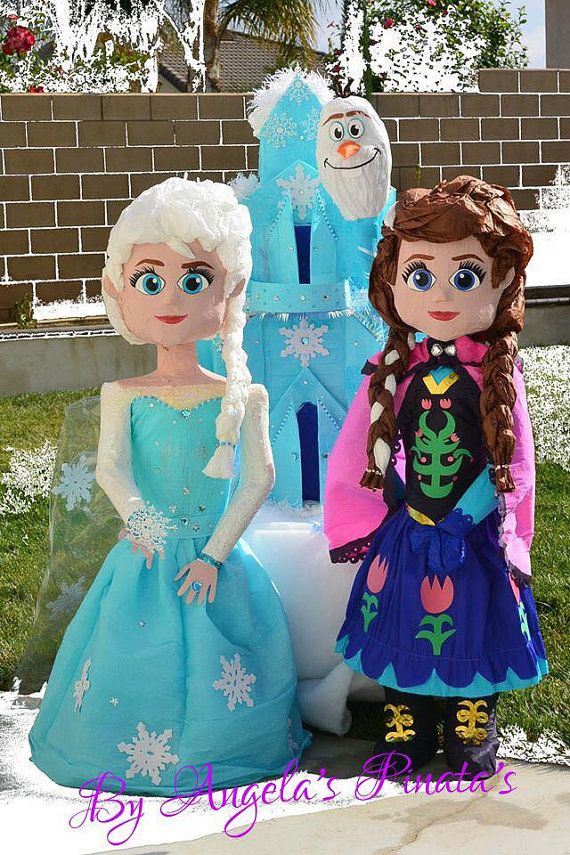 Inspired in Anna Custom Hand Made Piñata Frozen by angelaspinatas