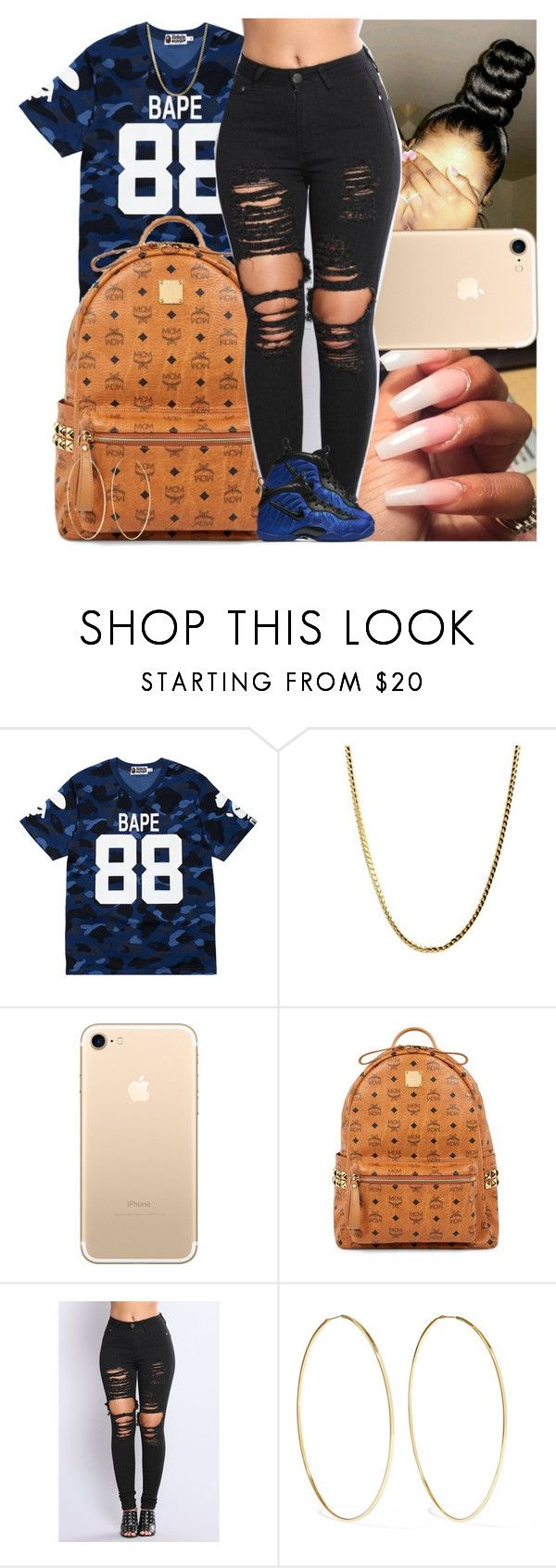 """""""Untitled #1357"""" by msixo ❤ liked on Polyvore featuring A BATHING APE, MCM, Magda Butrym and NIKE"""
