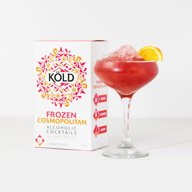 If you've ever tasted a bad homemade Mojito (think brain-freeze, only with mint) you'll understand the appeal of Kold Frozen Cocktails. Available in four