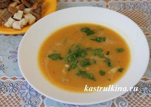 Мясной суп-пюре с чечевицей