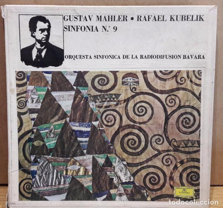 CAJA-ÁLBUM / GUSTAV MAHLER - RAFAEL KUBELIK. SINFONIA Nº 9 / DISCOS DE LUJO / CAJA EN MAL ESTADO.