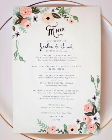 The Menu by Rifle Paper Co. | Real Wedding: Sarah and Jordan, Colorado Springs, Colorado