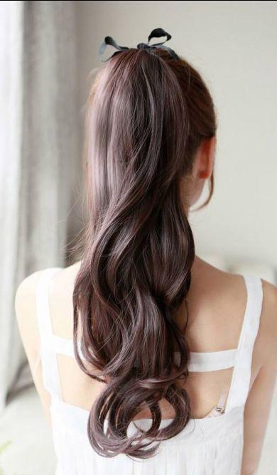 Pretty ponytail #ponytail #hair #curls