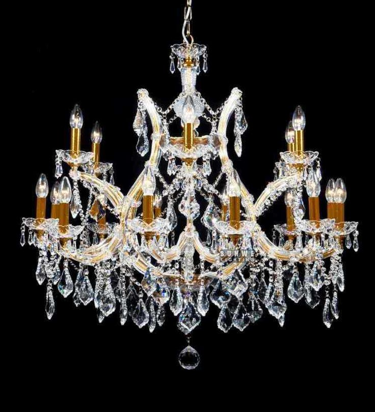 Exceptional Aliexpress.com : Buy 18 Lights Hanging Crystal Chandelier Lighting  Beautiful Chrome Candle Crystal Chandelier