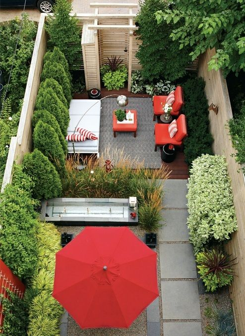 Garten Design - moderne coole Garten Gestaltung im Hinterhof