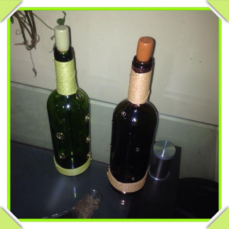 Portaincienso de Botellas de vidrio no retornable