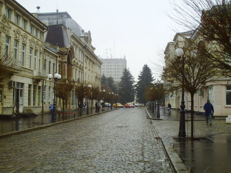Braila RomaniaOld central part of the town known as Republicii street, former Regala street. My usual way to school.