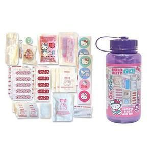 Hello Kitty Sport Bottle First Aid Kit, 74 Piece
