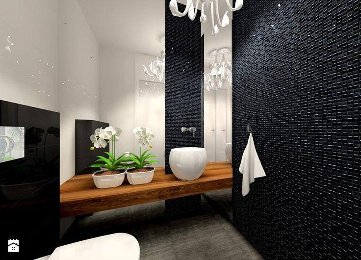 gresite baos estilo moderno negro