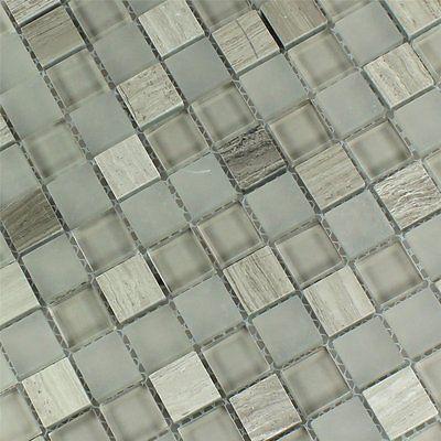 Glas Marmor Mosaik Fliesen Burlywood 23x23x8mm 2