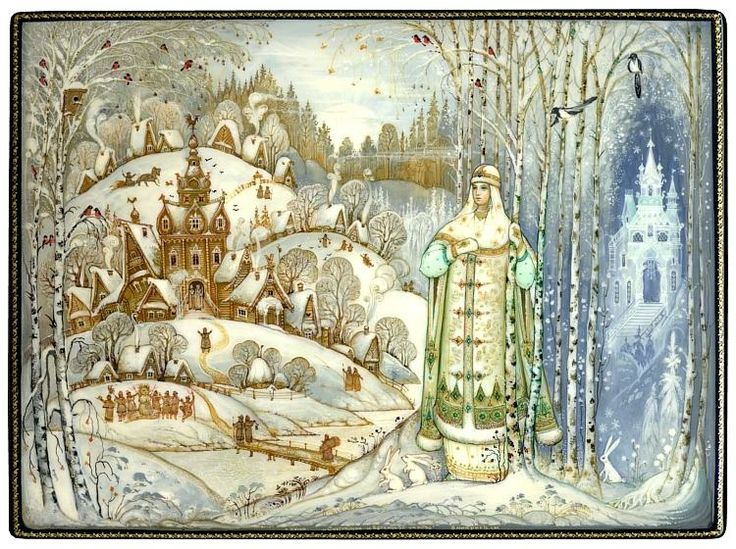 Snowmaiden, daughter of Winter and Spring,