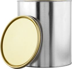 1 GALLON GOLD LINED CAN WITH LID | Also known as gold phenolic, this can is generally used for light solvents and oil-based products. Food products must be packaged prior to placing in can. ALSO AVAILABLE IN 1/2 PINT, 1 PINT, 1 QUART. #paint #can #tin #metal #food