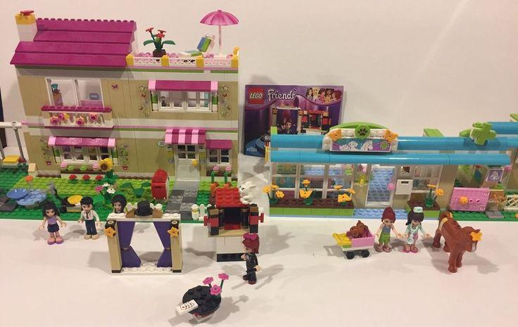 Lego Friends lot Sets 3315, 3188, 41001 Olivia's House, Vet, Mia Magic Tricks #LEGO