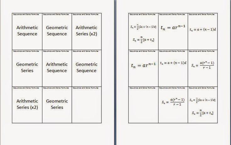 arithmetic and geometric series formulas pdf
