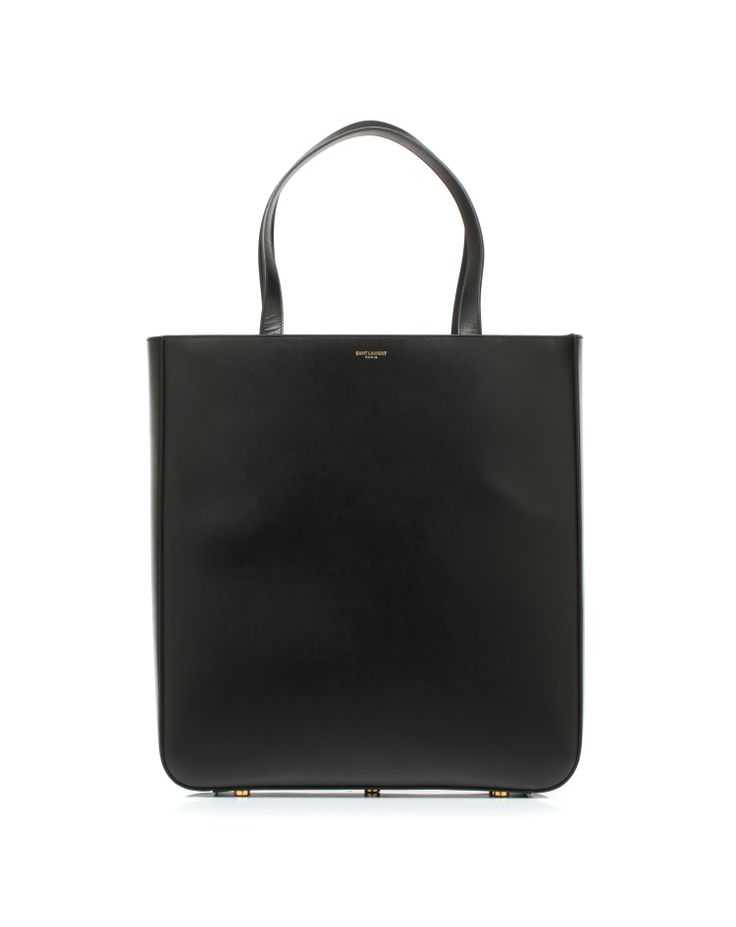 Shopping bag with leather handles by #SaintLaurent
