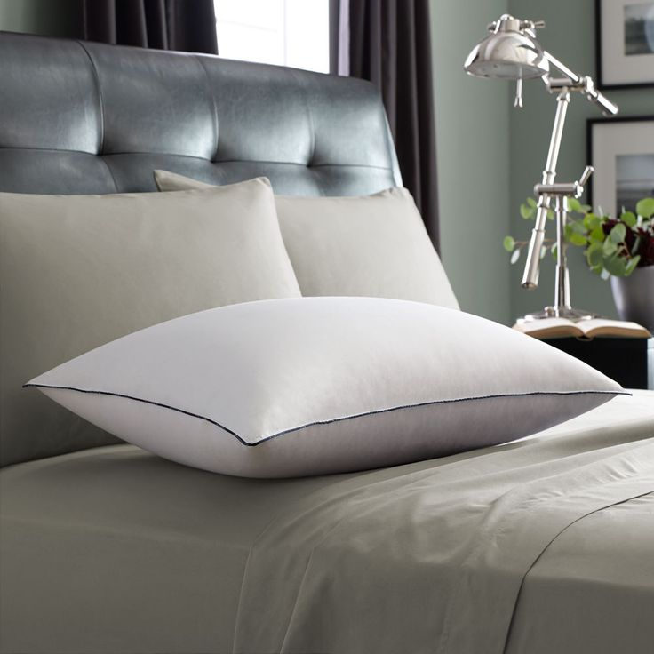 Provides V.I.P. luxury in a fluffy, all white goose down pillow covered in super…