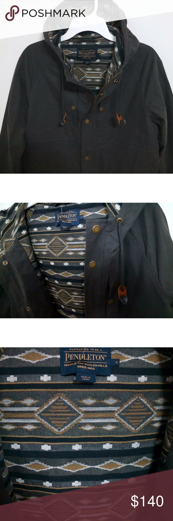 Pendleton Portland Collection Men's Parka Jacket Brand new with tags, men's size Small. This Pendleton Portland Collection Men's Parka Jacket is lined with an iconic tribal Pendleton print. Even the hoodie is lined! Comes in grey. This is an additional pictures listing. Please visit 1st listing for more pics and information! Retails for $279! Pendleton Jackets & Coats