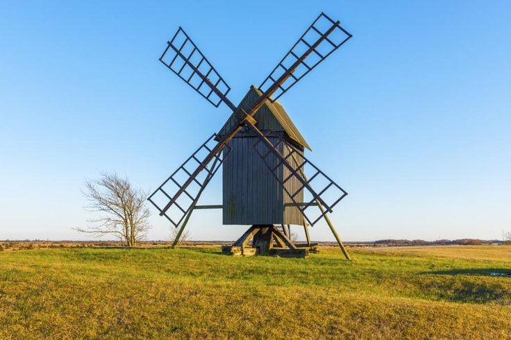 WINDMILL ON THE ISLAND OLAND / SWEDEN by Mike Back