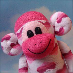 How to Make A Valentine Sock Monkey: Cutest Socks, Holidays Valentine'S, Valentines Day Feb, Sock Monkeys, Valentines Socks, Socks Monkey, Holidays Valentines, Eye