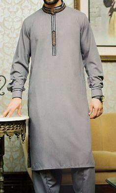 Grey Shalwar Kameez Suit | Buy Pakistani Indian Dresses