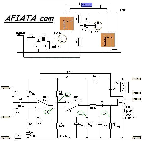 signal detecting auto power-on unit, audio signal