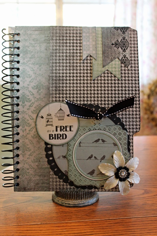 Love this altered notebook