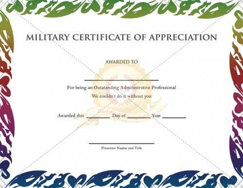 10 images about Appreciation Certificate – Army Certificate of Appreciation