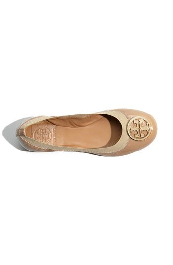 Tory Burch 'Caroline' Elastic Trim Ballerina Flat oh so pretty