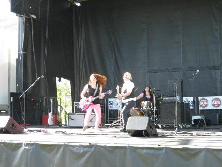 Rocking out at the Battle of the Bands