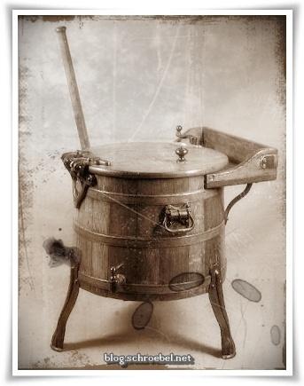 Historische Waschmaschine   Kleinere Ausführung, ca. 1900