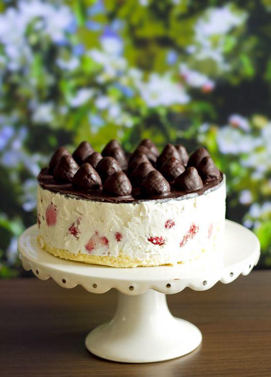 glasstårta med fryst kaksmet!