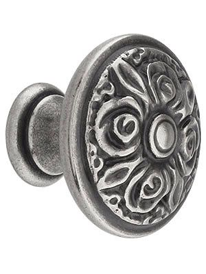 Antique Cabinet Hardware. Rose Design Cabinet Knob With Choice Of Finish