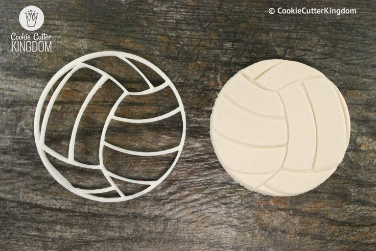 Volleyball Cookie Cutter and Stamp Set